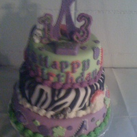 Zebra Cake I had free rain on this one and I had fun. The little girl I did this for is a girly girl and she really loved it.
