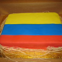 Colombian Flag I made this cake for my Grandpa Birthday