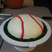 Baseball Chocolate cake with buttercream icing