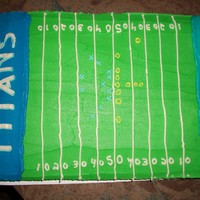 Titans Vs. Jaguars Two of my friends are competitive about this and get together every time the Titans and Jaguars go head to head. So this time I made a cake...