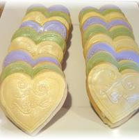 Fondant Heart Sugar Cookies