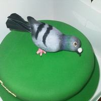 Europa Classic One Loft Race Pigeon Cake This cake was for the Europa One Loft Pigeon race, it was vanilla sponge with fondant and the pigeon was made from scratch using modelling...