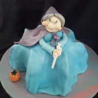 Fairy Godmother Vanilla sponge covered in fondant and modelling paste assents.