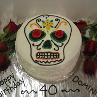 Day Of The Dead Cake Carrot cake with all butter cream! My friend loves Day of the Dead, so I thought this would be a fun cake for him! It was fun to make and...