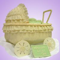 Baby Carriage This cake was made for someone who had a Baby Carriage theme for her shower. The cake is covered in fondant and decorated with fondant &amp...