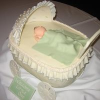 Baby Carriage Cake   Another view of the baby carriage cake.