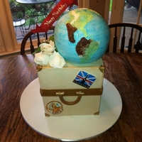 Around The World And A Tulip all buttercream no fondant
