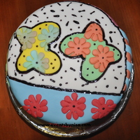 Cake With Art Style This cake is inspire on Britto's Art, a very popular artist that enjoy colors and designs all mix. It is fun to see and everybody...