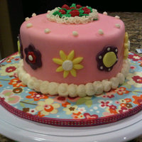 My First Fondant Cake! Girly And Lot's Of Pink!