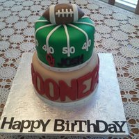 Ou Sooners Football Themed Birthday Cake Entirely edible. Covered in Fondarific Fondant (the best fondant I have ever used, and also best-tasting!). Fondant Football topper. This...