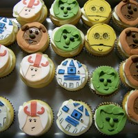 Star Wars Cupcakes My son turned 8 today! He LOVES and LIVES for Star Wars. He picked out some of his favorite characters and I made cupcake toppers for...