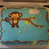 Pop Monkey Baby Shower Cake Baby shower cake for a friend. Is it wrong to get attached to the cake? I hate to see their heads eaten..lol Thank you for looking. The...