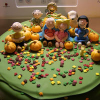 Great Pumpkin Wedding Shower Cake A Great Pumpkin themed Wedding Shower cake. All of the characters are made from fondant and gumpaste. The top may look a little wonky to...