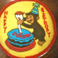 Curious George Curious George cake for a one year old
