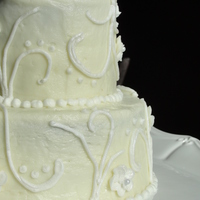 White On White Piped Cake