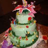 Tinkerbell For My Daughter's First Birthday  i know that doesn't look very good,but this my first tiered cake,be kind with me please.I'm new to this web site and i love it,...