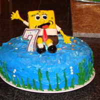 Sponge Bob   i made this cake for my son ,he loves sponge bob,everything is edible