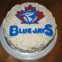 Blue Jays Rose Cake I made this cake for an 86-year-old woman who loves the Jays. BTW, she got a Blue Jays tattoo for her 85th birthday. How cool is that!...