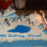 Penguin Birthday Cake Copied this from another cake site - my daughter loved making the penguins with me!