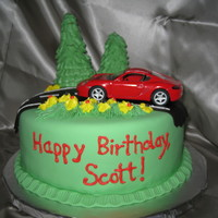 Scott's Porsche Cake Still practicing my technique with fondant here. My husband wanted a Porsche cake for his birthday. I said - are you nuts? I've only...
