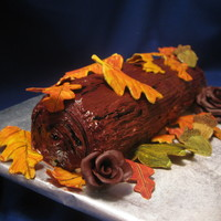 Buche De...autumn? My brother in law wanted me to make him a canoli cake. I wanted to try a buche de noel as I've never made one. I found a tasty recipe...