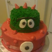 Yo Gabba Gabba 2 tiered Yo Gabba Gabba cake along with 12 matching cupcakes. The clients sent me a picture they found online of the cake and cupcakes. Not...