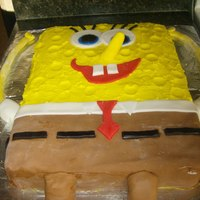 Spongebob Square Pants spongebob made out of cake and fondant