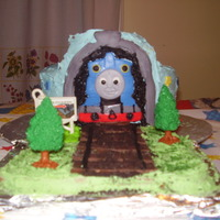 Thomas & Friends Birthday I made this cake for my son Brandon's 4th birthday. He LOVES Thomas & Friends! Thomas the Tank Engine is his favorite train. The &...