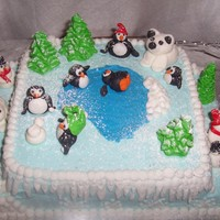 Winter Wonderland Fondant animals and tress.