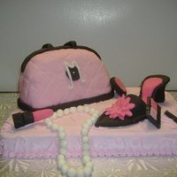 Fashion Cake Accessories are made of fondant.
