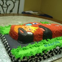 Cars Cake All buttercream icing.