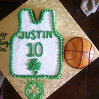 Celtics Cake This cake was made for my 10yr old's birthday. The cake is a Boston Celtics Jersey with his name and age on it, made out of a 1/4...