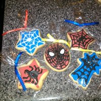 Spiderman Sugar Cookies This was a batch of sugar cookies that was decorated to look like Spidey! Hope Little A.J. enjoys them! I used NFSC recipe, Antonia 74&#039...