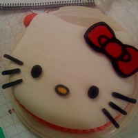 Hello Kitty!!!! This was my first semi sculpted cake. It was for my BFF's birthday. Shes a huge hello kitty fanatic!! OUTSIDE : marshmellow fondant,...