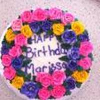 Marissa's Birthday Cake White cake with butterCream frosting
