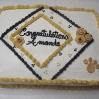 2006 Graduation I did cakes for 3 girls who were having their reception together - So I tried to make them go together a little bit. I guess they were a...