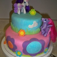 My Little Pony Cake! This was my first fondant cake! it was for my best friend's daughter! Everyone loved it! but looking back its a little messy.. :)