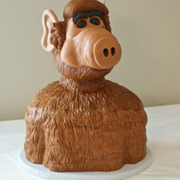 Alf Cake for a groom who loves Alf! White cake with chocolate filling. TFL!