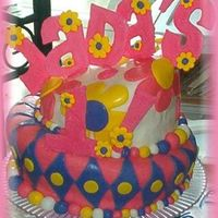 Jada's 1St Birthday Cake This cake was for one of my best friends' daughters' 1st birthday. (Whew, that was a mouthful..) This was my first attempt at...