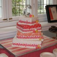 "Sierra's Cake Here it is! My first official wedding cake. It was SO much fun to make. I'm SOOO addicted now!! Cakes are as follows 12"" - French..."