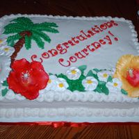Hawaiian Grad Cake I made this cake this past weekend for an open house. It was my first attempt at gumpaste and it was a lot of fun! I got the general idea...