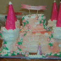 Princess Evelyn's Cake I have never taken any classes in cake decorating, but after looking through the gallery here I decided to try to make a castle cake for my...