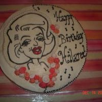 Marilyn Monroe Cake I made this cake for my niece's 14th birthday. She's obsessed with Marilyn Monroe so she LOVES it. FBCT - only the 3rd attempt...