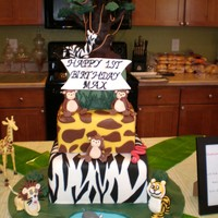 Jungle Cake Its a Jungle out there! 3 Tier cake. Standing 2ft 2 inches tall on a 20 inch cake board. Bottom Tier Vanilla with vanilla buttercream and...