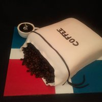 Coffee Bag Grooms Cake