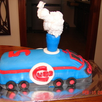 Chicago Cubs Train Cake