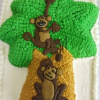 Monkeys In A Palm Tree  This is one of my favorite birthday cakes that I have made. It was for my friend's little boy's first birthday and I think she...