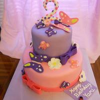 Pink And Purple Butterfly Cake