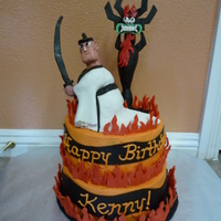 Samurai Jack Samurai Jack made from RCT and Aku from modeling chocolate.