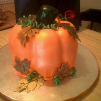 Pumpkin Bundt pumkpin cake. Top layer is carrot bottom is pumpkin. Iced and filled with cinnamon cream chz buttercream. stem is rkt. stem and...
